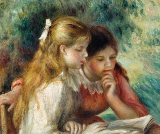 The Reading - Pierre-Auguste Renoir as art print or hand painted oil. Description from art-prints-on-demand.com. I searched for this on bing.com/images
