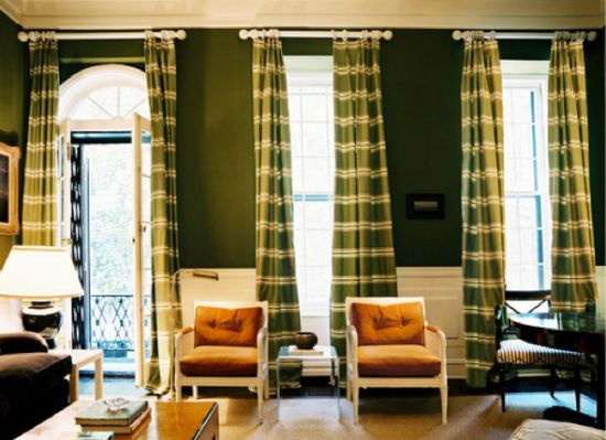 Killer Green Living Room By Ruthie Sommers Fabulous Deep Walls Lighter Than Forest But Deeper Kelly This Wall Color Is Repeated In The