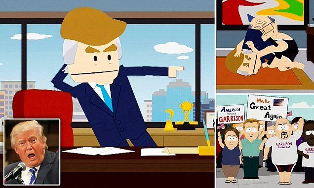 South Park shows Trump being brutally raped to death