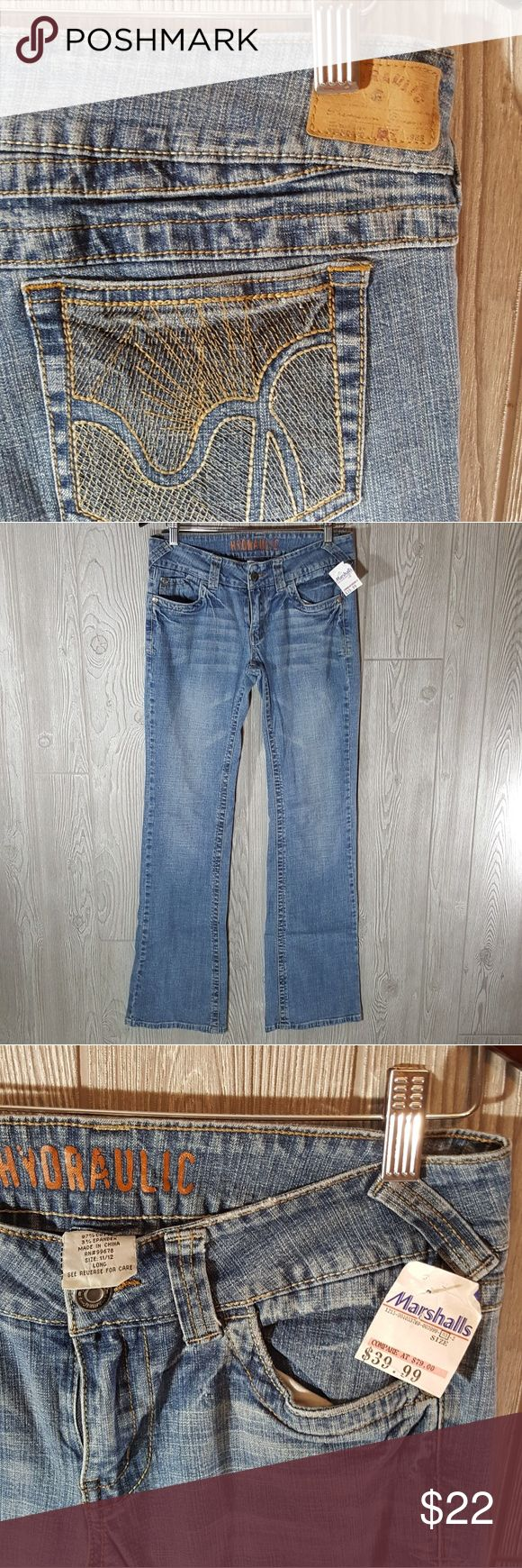 NWT hydraulic jeans 11 4/12 long Excellent condition hydraulic jeans size 11/ 12 Long. Still has tags attached. Retailed for $80 bout at marshalls for 40. Does have some stretch to them Hydraulic Jeans Boot Cut