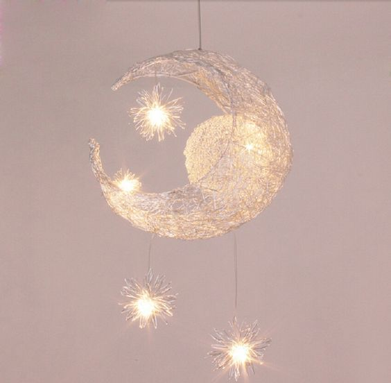 Modern Personalized Moon Star Chandelier Children Bedroom Lustres hanging ceiling lamp home decorative Fixture Lighting-in Pendant Lights from Lights & Lighting on Aliexpress.com | Alibaba Group