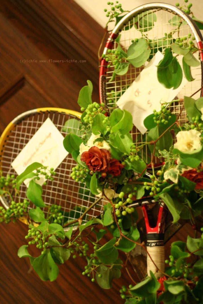 ウエルカムボード テニスラケット 如水会館様へ : 一会 ウエディングの花