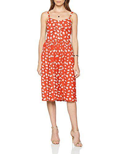 Edc kleid orange