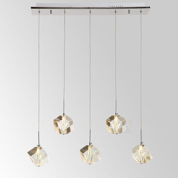 DINGGU™ Modern Lighting Island Crystal Chandelier Pendant Lamp Fixtures 5 Lights Halogen Bulbs Included - - Amazon.com