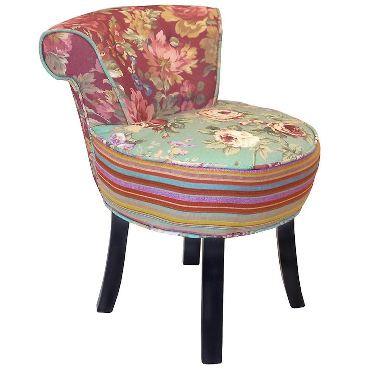Roses - Shabby Chic Stool / Fan Back Chair With Wood Legs - Multi-coloured - https://www.fruugo.co.uk/roses-shabby-chic-stool-fan-back-chair-with-wood-legs-multicoloured/p-3075347;jsessionid=G3QDuow5kZRH3LGwclKp.16900