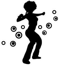 Väggord/väggtext /Väggdekor - Discodansare
