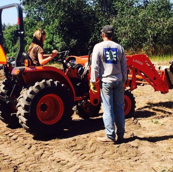 *****Kubota Fans*****  My dad taught me to drive his new tractor today! It was fun smile emoticon  Pic by juliebird