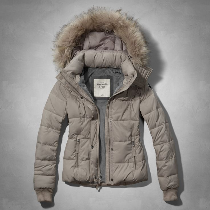 Womens Tan Michelle Puffer Jacket with Fur Hood| Womens New Arrivals | Abercrombie.com