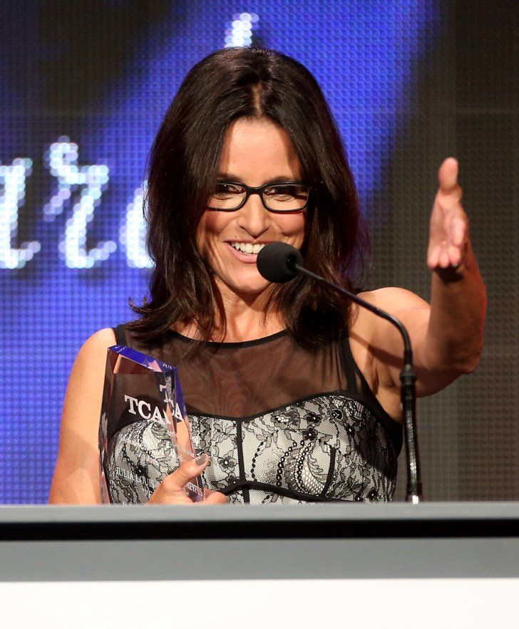 Pin for Later: The McConaissance Continues at the Star-Studded TCA Awards  Julia Louis-Dreyfus was all smiles on stage.