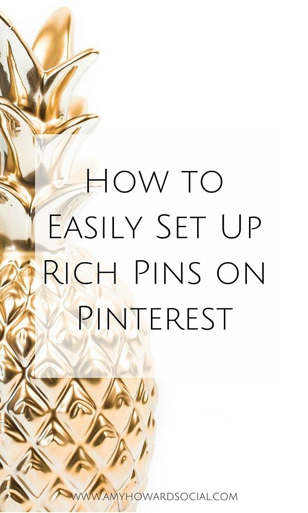 Want to learn how to easily set up rich pins on Pinterest? Follow these 3 easy steps and quickly get started with rich pins for your blog today!