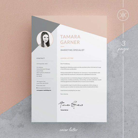 Tamara Resume/CV Template  Word  Photoshop  InDesign