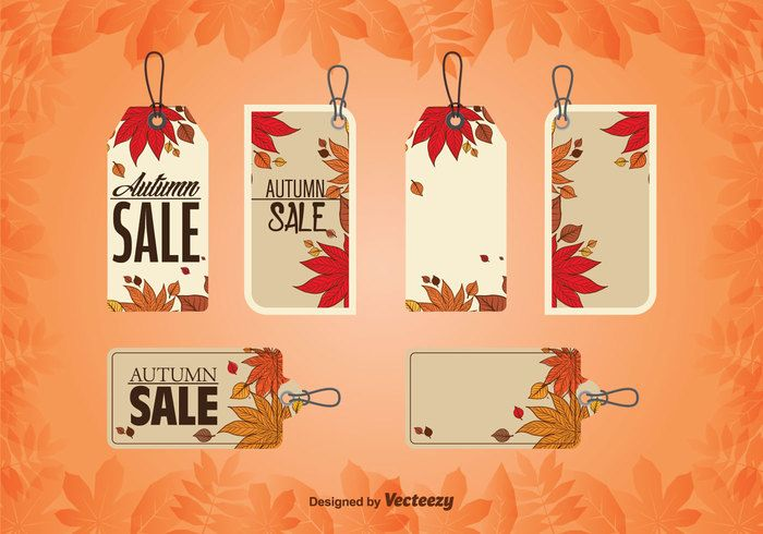 Free vector Autumnal Price Tags #26476