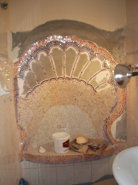 Seashell bathroom shower