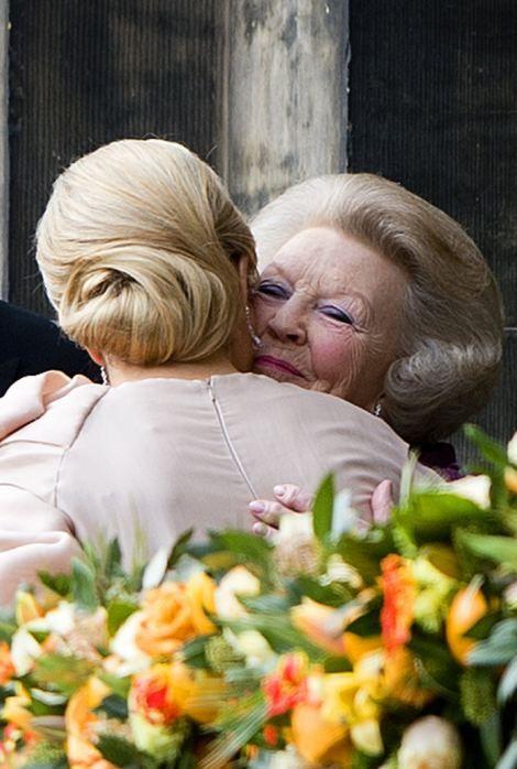 Queen Maxima and former Queen Beatrix