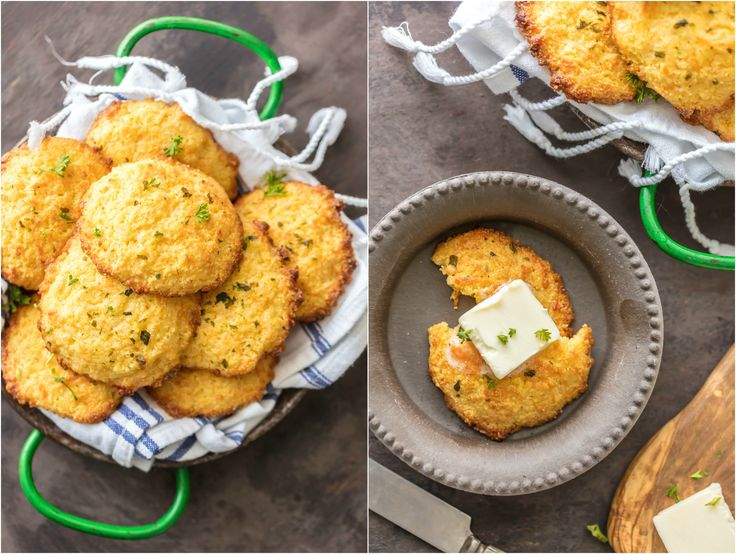 Cheesy Garlic Cornbread Drop Biscuits are EASY, delicious, and perfect ...