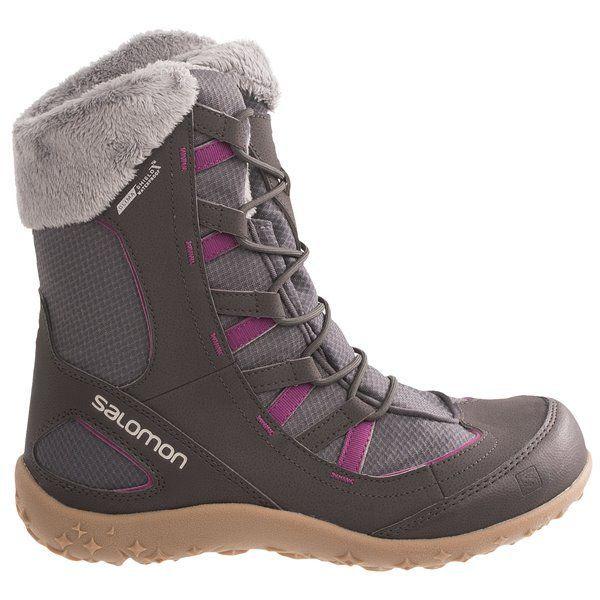 Salomon Leone TS CC Winter Boots - Waterproof (For Women) in Detroit/Autobahn/Pink