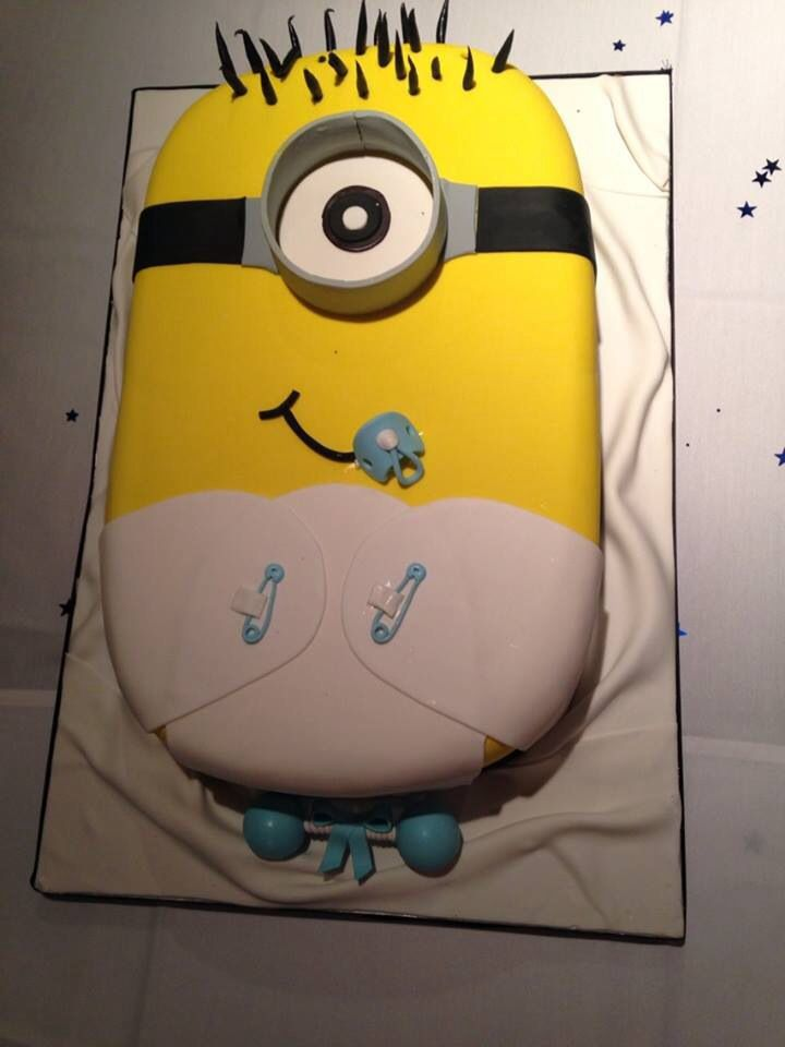 Pinterest : hair004 ~   Minion Baby Shower Cake