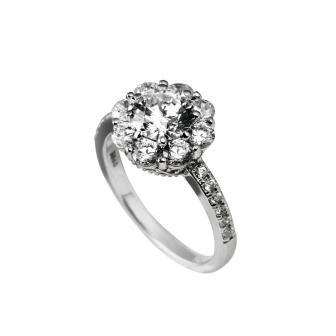 Anel em prata e zirconias DiamonFire c/ acabamento de rodium, paládio e platina. | INLove |  Dara Jewels