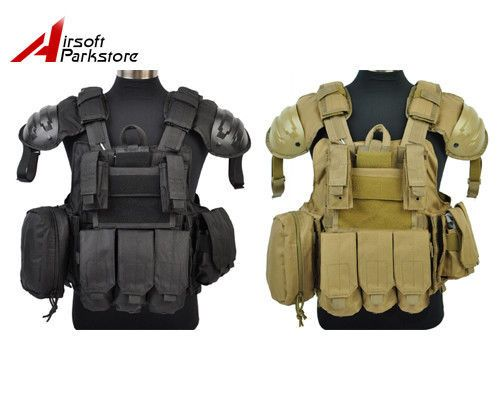 1000D Airsoft Tactical Military Molle Plate Carrier Vest ...