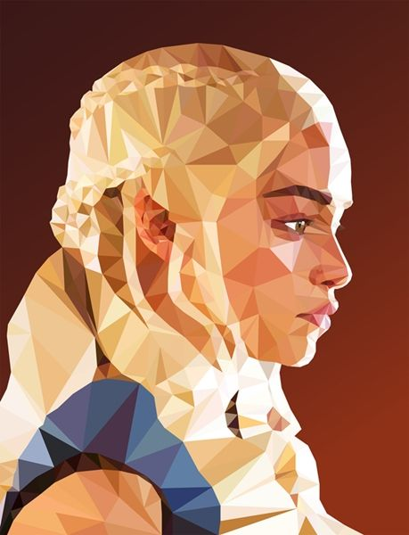 Israel-based graphic designer and illustrator Mordi Levi has created portraits of Game of Thrones characters in polygon art style.