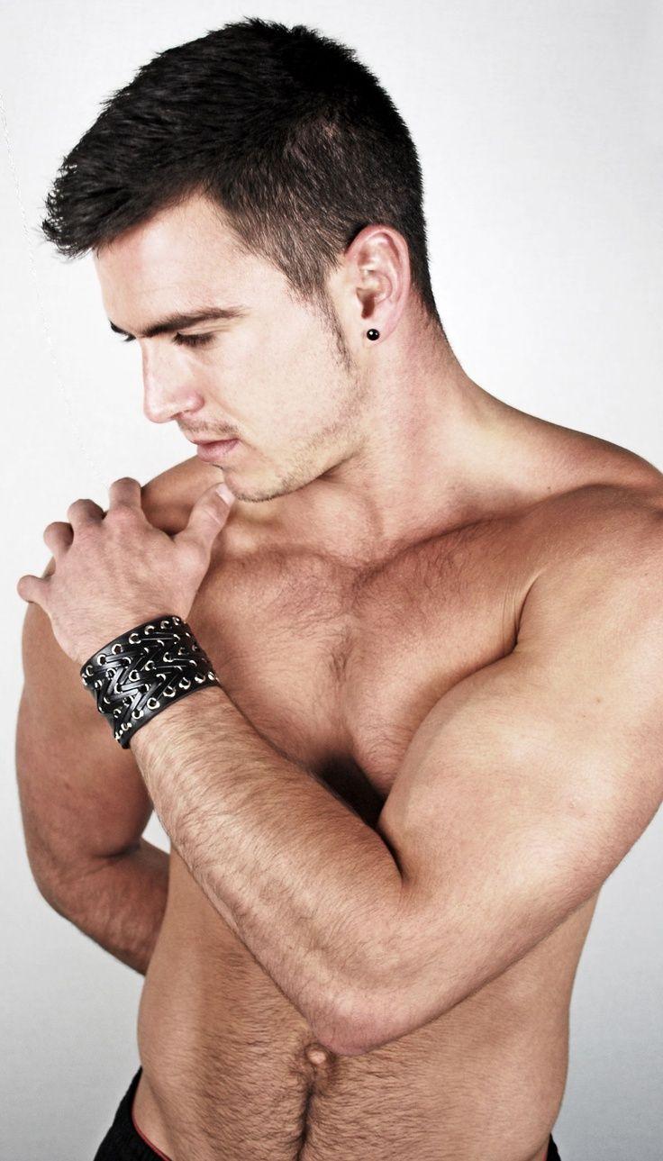 Model Shot From Urban Male Men's Jewellery Featuring A Black Leather  Bracelet #mensfashion #mensjewellery