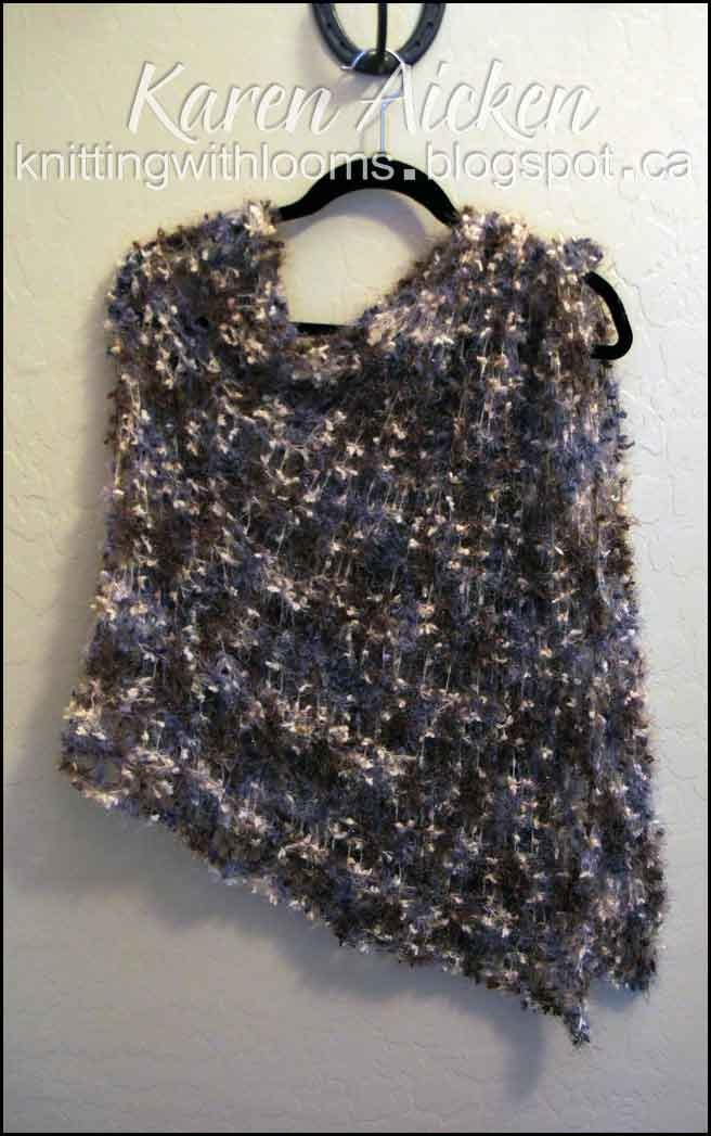 1000+ images about loom knit poncho on Pinterest Poncho patterns, Knitted s...
