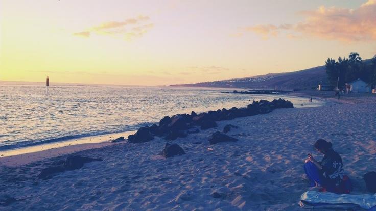 "Beach ""Plage de Saint-Leu"""