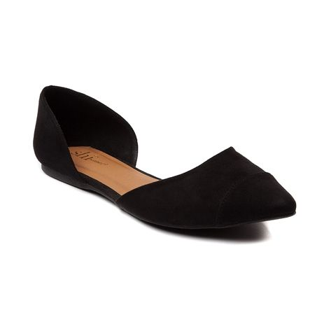 Shop for Womens SHI by Journeys Anita Flat in Black at Journeys Shoes. Shop today for the hottest brands in mens shoes and womens shoes at Journeys.com.You will look great in these super chic black flats from  Shi by Journeys. Features include a pointed toe and exposed center. Dressed up or down, the Anita will flat out go great with any attire for any occasion.