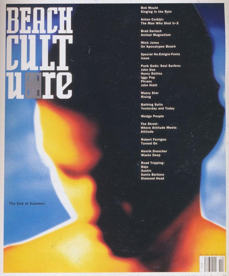 David Carson (designer), Beach Culture vol1 #4 magazine cover, 1990