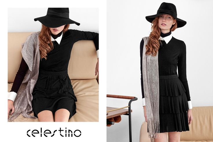 Let's redefine the LITTLE BLACK DRESS with an outfit that adds glam, style and a vintage-inspired attitude! #ootd #Celestino celestino.gr