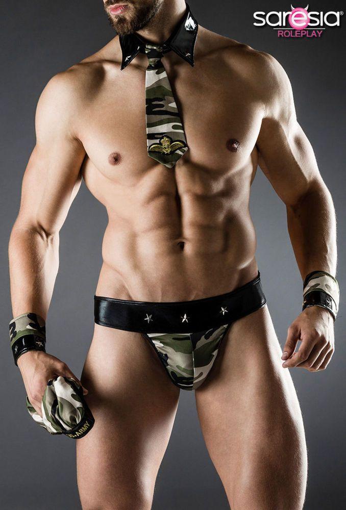 Army Kostüm Fasching Sexy Karneval Herren Verkleidung Saresia S-L Armee Men