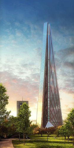 The Highest Skyscraper In Europe: (Canceled) Russia Tower, Moscow City,  Russia © Foster + Partners/Halvorson And Partners Architecture ☮k☮