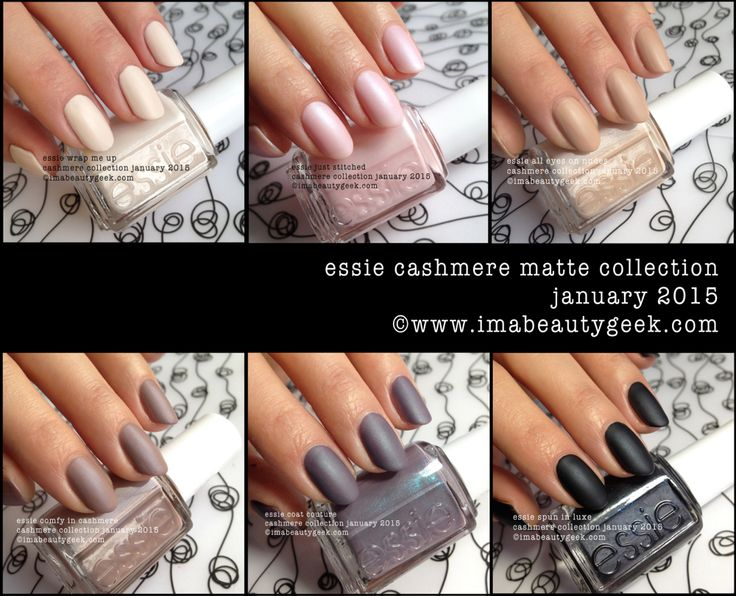 Essie Cashmere Matte 2015 Collection! Squeeeee!! January 2015. ©imabeautygeek.com