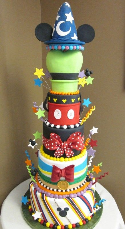 Mickey Mouse Cake... I wish one of my cake friends would make this for me! Hint Hint... LOL