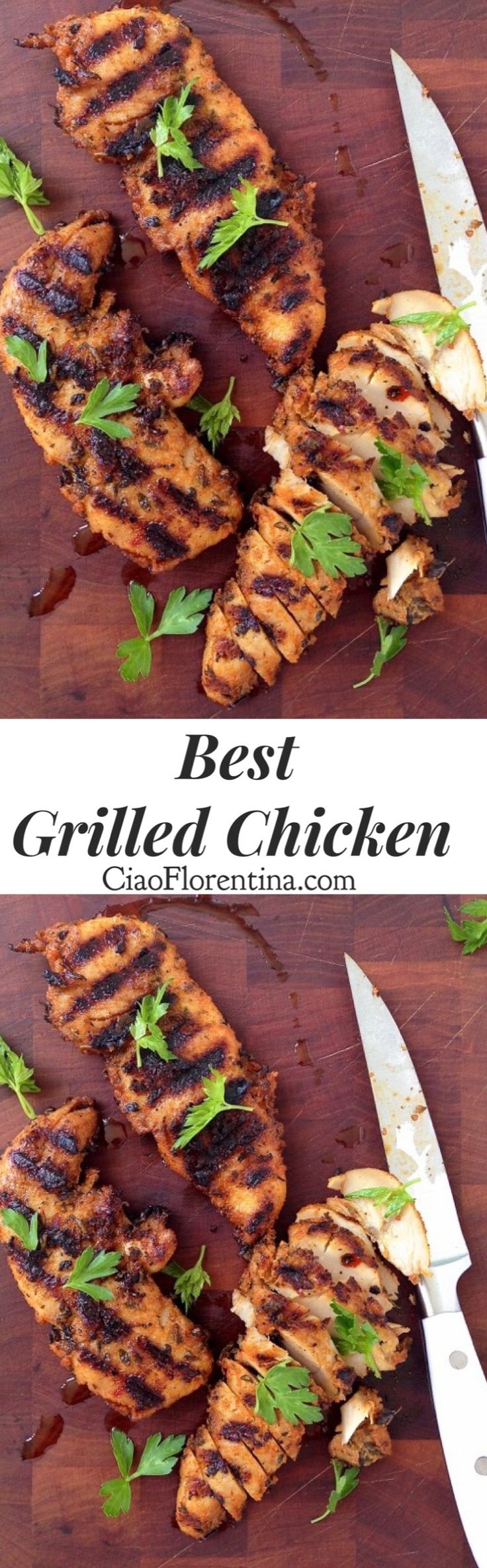 Best Grilled Chicken Recipe, quick and easy made with tenderloin and a magical smoky homemade spice mix | CiaoFlorentina.com @CiaoFlorentina