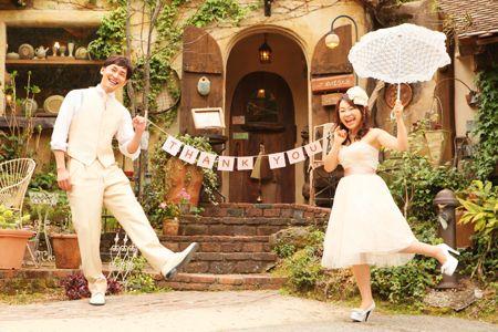 前撮り ガーランド 結婚式