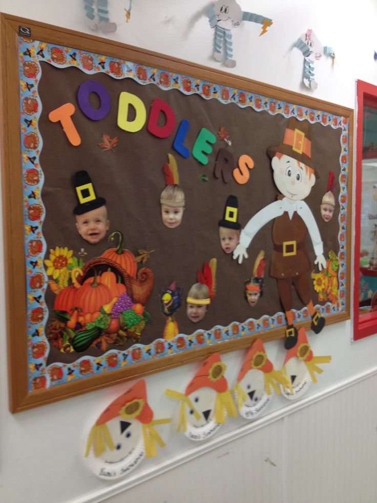 Classroom Ideas Toddlers ~ Thanksgiving toddler room bulletin board