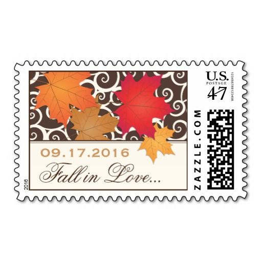 Custom Postage Stamps   Fall Autumn Leaves Theme