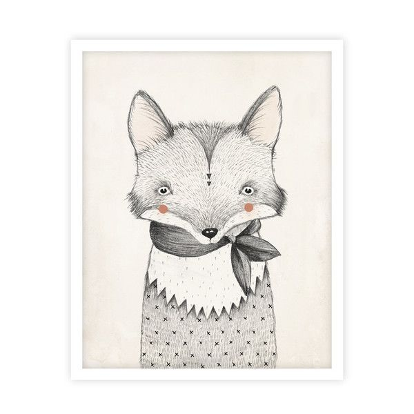Illustrated fox art print by Kelli Murray for Rylee & Cru. Printed on mattewhite paper - acid free, 110 lb cover, 298 GSM Hand signed and sealed in a cello sle