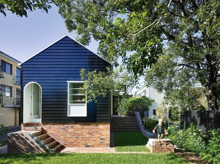 A careful but confident transformation of a tiny worker's cottage into a contemporary family home by Vokes and Peters.