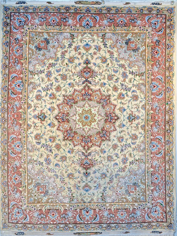 Tabriz Silk Persian Rug | Exclusive collection of rugs and tableau rugs - Treasure Gallery Retail Price: $8,900.00  You Save: 67% ($6,000.00)  Item#: 89  Category: Small(3x5-5x8) Persian Rugs  Design:   Size: 150 x 200 (cm)      4' 11 x 6' 6 (ft)  Origin: Iran  Foundation: Silk  Material: Wool & Silk  Weave: 100% Hand Woven  Age: Brand New  KPSI: 500  You Pay :$2,900