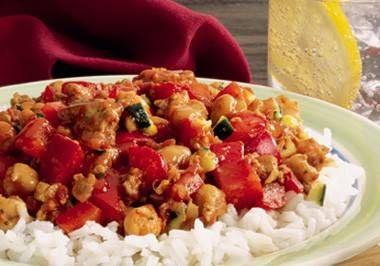 Kip met paprika en courgette  Volle smaak. Dit recept wordt wel een van je favorieten