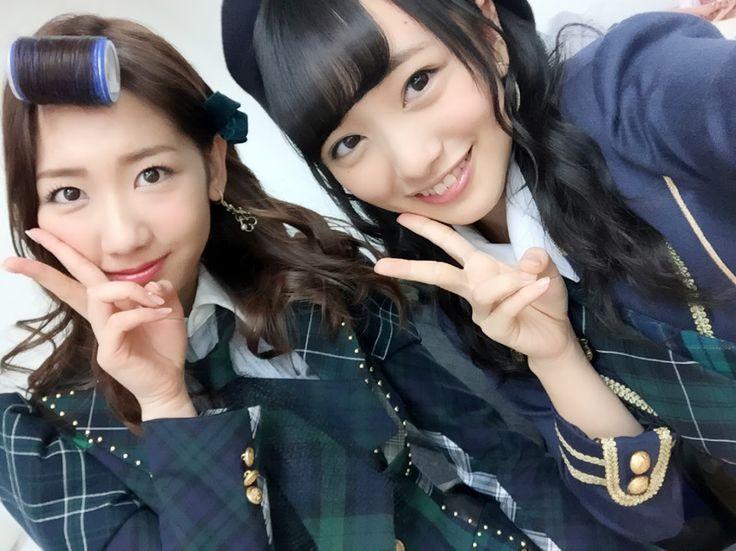 Yuki Kashiwagi (柏木由紀) - Yukirin  & Mukaichi Mion (向井地美音) #gravure #AKB48 #NMB48 #mukaichi Mion #Team4 #TeamB #jpop #idol #Beauty #selfie #Google+