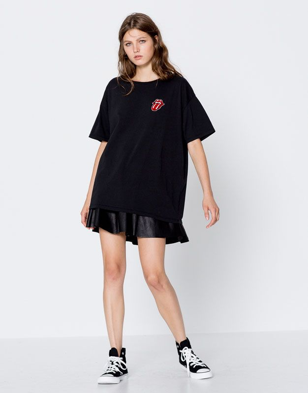 T-shirt rolling stones - T-shirts - Vêtements - Femme - PULL&BEAR France 15.99€