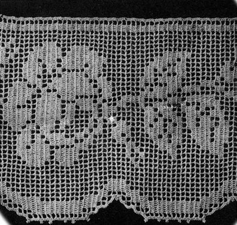 Filet+Crochet+Stitch+Pattern+-+PDF+-+Rose+Lace+Edging+:+El+Camino+Real