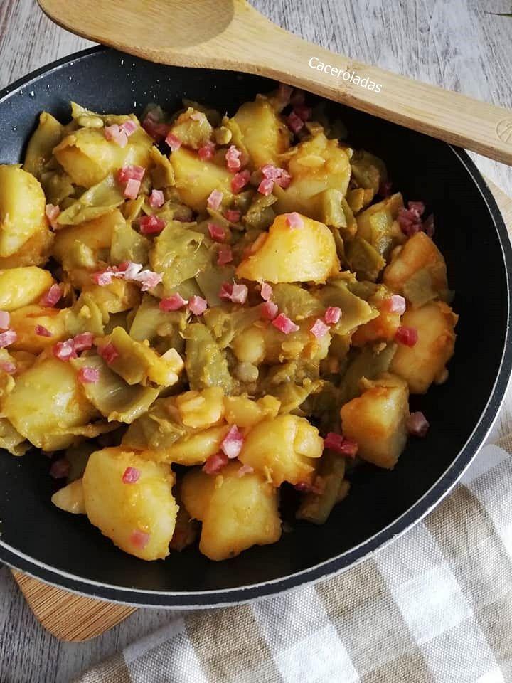 Judías Verdes Rehogadas Con Patatas En 2020 Judias Verdes Rehogadas Judias Verdes Patatas