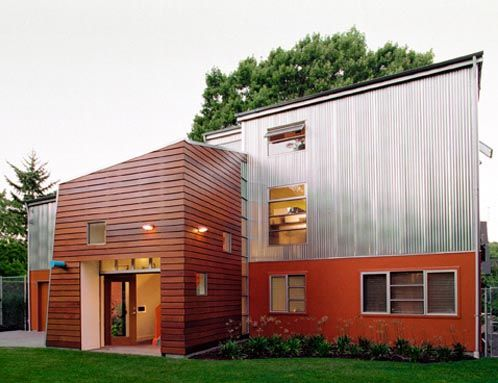ipe siding is extremely popular with modern home design because of the clean aesthetic and extremely long life of ipe wood siding - Modern Home Siding