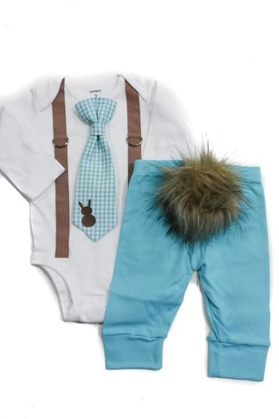 newborn boy easter clothes, Bunny Hop Outfit Set