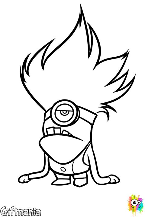 Color now this purple minion the