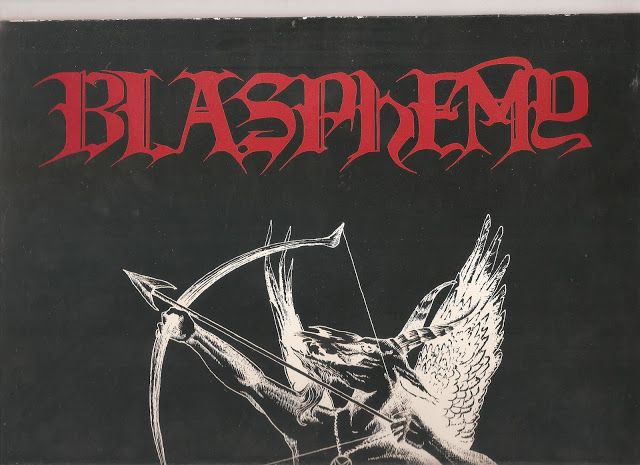 BLASPHEMY  FALLEN ANGEL OF DOOM ORIGINAL LP ON WILD RAGS WITH ORIGINAL LETTERS FROM OSMOSE + PRESS RELEASES